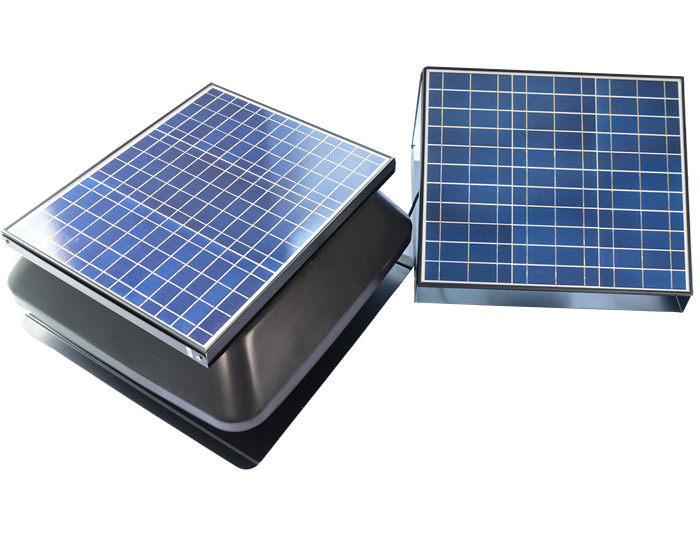 solar roof fan with battery system