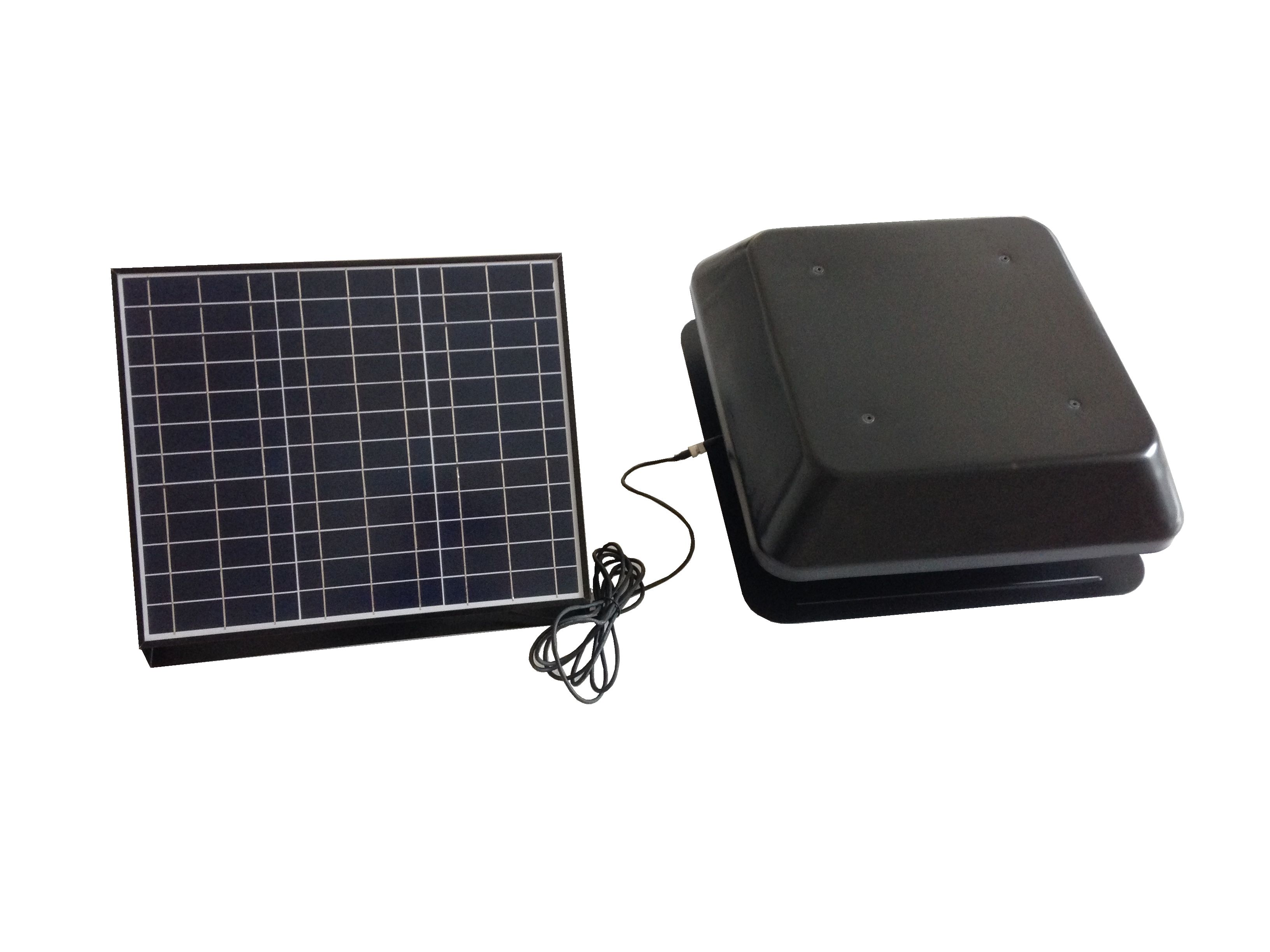 split type solar attic fan