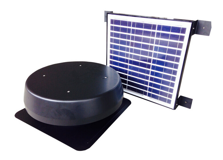 split solar roof mount fan