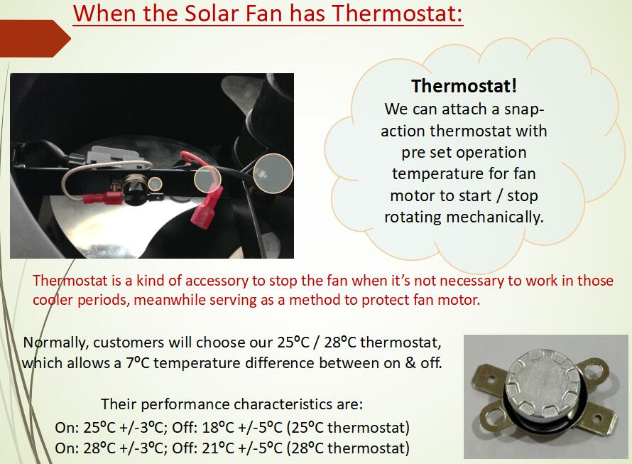 solar attic fan with thermostat