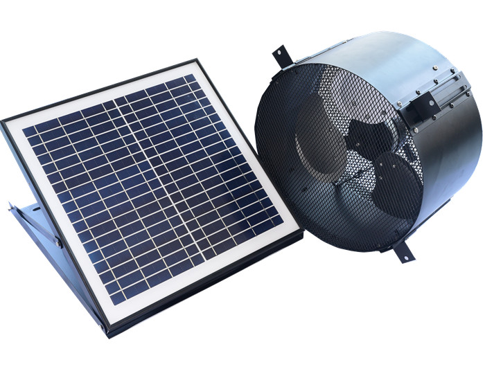 Wall mount solar gable fan