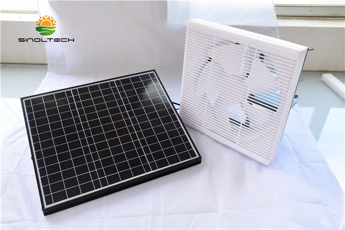 lauvered solar exhaust fan